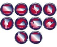 O jogo de 10 teclas do estado ajustou 5 Imagens de Stock Royalty Free