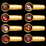 O jogo de elementos do casino Imagens de Stock