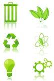 O jogo de recicl ícones ilustração stock