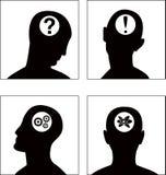 O jogo de símbolo da cabeça do vetor Imagem de Stock Royalty Free