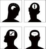 O jogo de símbolo da cabeça do vetor Foto de Stock Royalty Free