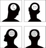 O jogo de símbolo da cabeça do vetor Fotografia de Stock Royalty Free