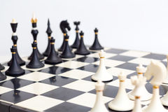 O jogo de xadrez fotografia de stock