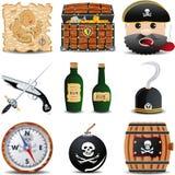 O jogo do ícone de Patrate de 9 artigos ajustou 2 Imagens de Stock Royalty Free