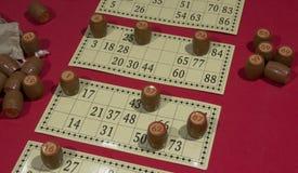 O jogo do bingo fotografia de stock