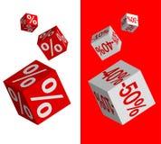 O jogo do disconto corta Imagem de Stock