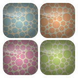 O jogo do Pastel quadrado arredondado mancha ícones Imagem de Stock