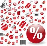 O jogo o mais grande de preços vermelhos no projeto do vetor Imagens de Stock Royalty Free