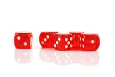 O jogo vermelho corta isolado Foto de Stock