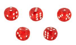 O jogo vermelho corta isolado Imagem de Stock Royalty Free