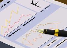 O jornal das finanças para comerciantes ilustração do vetor