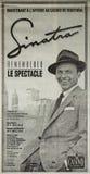 O jornal de Frank Sinatra adiciona imagens de stock