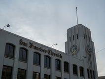 O jornal de San Francisco Chronicle sedia a construção no downt imagens de stock royalty free