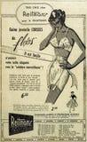 O jornal velho do vintage adiciona fotografia de stock
