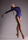 O jovem e a bailarina incredibly bonita são de levantamento e de dança no estúdio Balé clássico fotos de stock royalty free