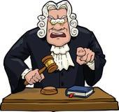 O juiz dos desenhos animados acusa ilustração stock