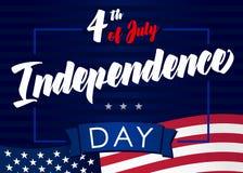 4o julho, Dia da Independência do Estados Unidos Foto de Stock