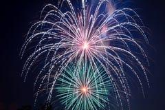 4o julho - exposição dos fogos-de-artifício Foto de Stock