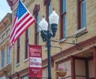 4o julho na Pequeno-cidade Wisconsin fotografia de stock