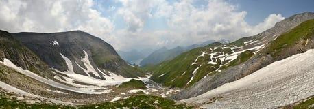Panorama suíço dos cumes Fotos de Stock
