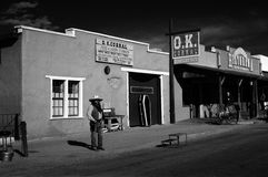 O K 畜栏,墓碑, AZ 图库摄影