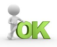 O.K. Stock Foto