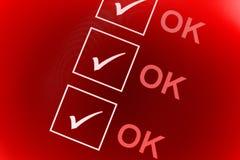O.K. controlelijst Royalty-vrije Stock Foto's