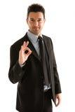 O.K. het symbool van de zakenman Royalty-vrije Stock Foto