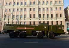 O 9K720 Iskander é um sistema de mísseis balístico de curto prazo móvel Foto de Stock