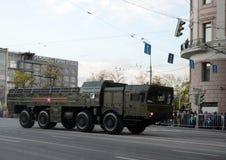 O 9K720 Iskander é um sistema de mísseis balístico de curto prazo móvel Fotos de Stock Royalty Free