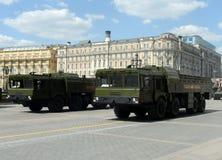 O 9K720 Iskander é um sistema de mísseis balístico de curto prazo móvel Foto de Stock Royalty Free