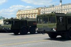 O 9K720 Iskander (pedra do nome SS-26 do relatório da OTAN) é um sistema de mísseis balístico de curto prazo móvel Fotografia de Stock
