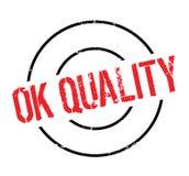 O.k. Kwaliteits rubberzegel Stock Foto