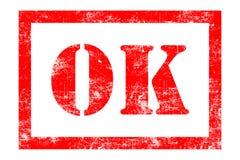 O.K. rubberzegel vector illustratie