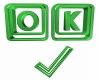 O.k. symbool Royalty-vrije Stock Foto