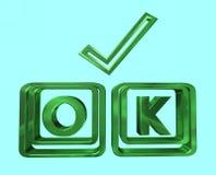 O.k. symbool Stock Afbeelding