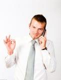 O.k. telefoon-Vraag Royalty-vrije Stock Afbeeldingen