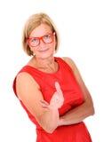 O.k. vrouw Royalty-vrije Stock Afbeelding