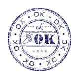 O.K. zegel Royalty-vrije Stock Afbeelding