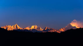 O Kanchenjunga majestoso Imagem de Stock