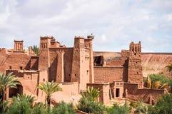 O Kasbah Ait Ben Haddou em Marrocos Foto de Stock