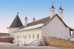 O Kazan Kremlin, república de Tataria, Rússia imagens de stock royalty free