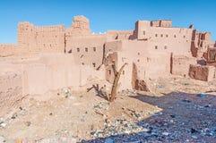 O Kazbah Taourirt em Marrocos Imagem de Stock