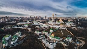 O Kiev Lavra da altura imagens de stock royalty free