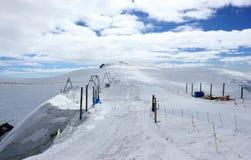 O Klein Matterhorn em 3.883 medidores 12.740 ft acima do nível do mar É o lugar o mais alto em Europa que pode ser alcançada pelo Imagem de Stock Royalty Free