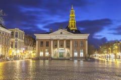 O Korenbeurs - troca de grão anterior em Groningen imagens de stock