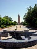 O Koutoubia, o monumento o mais conhecido e o mais visitado em C4marraquexe Marrocos Imagem de Stock Royalty Free