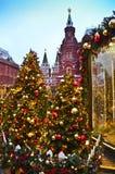 O Kremlin em um ano novo em Moscou imagem de stock