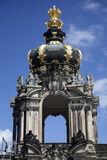 O Kronentor no palácio de Zwinger em Dresden imagens de stock