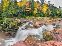 O Kun de Kun Falls van Michigan Stock Foto's